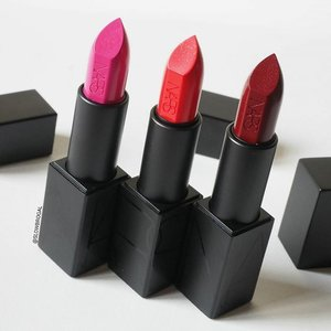 💖 [💄New Lipsticks Onboard!!💄]💖 From Left to Right, we have @narsissist Audacious Lipstick in Michiyo, Lana and Charlotte. 😙😙 It's a long day for me today, I hope everyone have a great mid-week!! 💕❤ #clozette