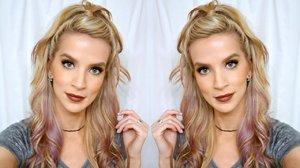 HAIR TUTORIAL: High Half Up Pebbles Ponytail - YouTube
