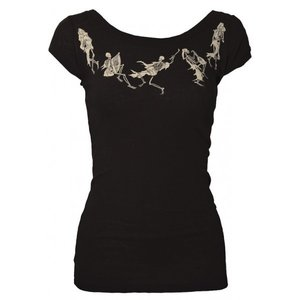 Women's Danse Macabre Scoop Neck Tee from The Mighty Squirm.