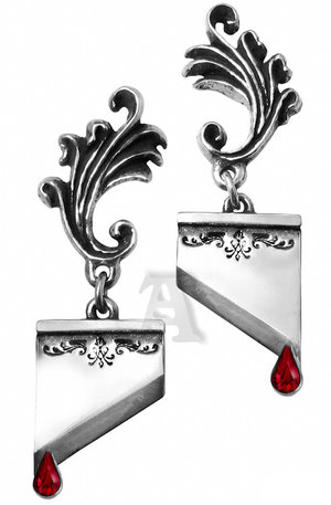 Guillotine blade earrings from Alchemy Gothic.