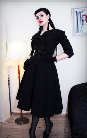 I love her trench coat dress. Style by Moth. Check out her blog here: