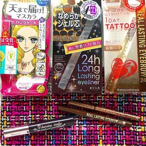 I love Japanese drugstore brow and eye makeup products and find them to be really awesome and bang for your buck. Been using these trusty items here for the past 2 months and have to say they've been getting alottttttt of use and I'm really pleased with them! @heroinemakesg Kiss Me Heroine Make Long and Curl Super Waterproof Mascara - love the end result on my lashes (I'll share a selfie with this my next post!😊) which is really pretty, lengthened and obvious lashes, non-clumpy. I also like that it's not too difficult to remove too. #Koji Line Beat 24h Long Lasting Eyeliner Dark Brown - been looking for a dark brown gel/pencil liner that's smudgeproof and easy to use, and this fits the bill! Love the fussfree automatic-retractable tip which is super-fine. And the super slim leopard-print pencil design is so cute too! ❤️ @kpalette_sg 1 Day Tattoo Real Lasting Eyebrow 24h Natural Brown - really enjoyed using this fine-tipped liquid brow pen that goes on sheer and is buildable to desired intensity, so it's easy for beginners too. The end result looks pretty natural and it's lasting too!Anyone else loves these? 😄❤️ #clozette #japanesebeauty #japanesemakeup