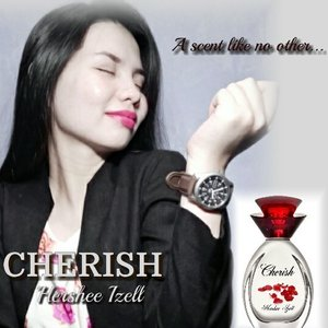 Soon to Launch  Cherish by Hershee Izell  A fragrance for women that is carefully handmade by European perfume house that is soon to launch this August 2016. Branded after the beauty blogger Hershee Izell for her love of fragrances.,this perfume is an original formulation as a dedication of Ms. Hershee to her mom, to bring all the happy memories in her life. A fruity- oriental scent that is beautifully designed in a Bordeaux bottle with a rose cap.