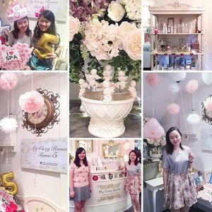 Ending tonight with a collage of the beautifully-decorated @mycozyroomspa. Can you believe this gorgeous and princess-y place is a boutique spa??? 🌹 You guys know my love for European-themed deco and this place just hits it for me *sigh* Finally had the chance to visit it today thanks to my dear @paradeoflove! Happy 5th anniversary, My Cozy Room 💕🍾5️⃣🎉🎂 I can't wait to go back again! #clozette