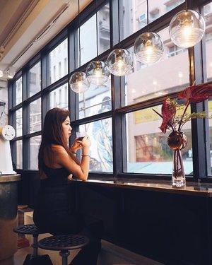 Sipping #coffee ☕️ everywhere I go. #TomDixonCafe #SharonInHongKong