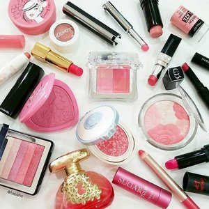 Pink is the colour for October, the breast cancer awareness month! Ladies please take care our own body and have regular check up. Tagged by @slowbrogal for my pink collections 💕💓💖💟💞💗 Thanks Cynthia for the tag! 😘 #beauty #clozette #breastcancerawareness #breastcancerawarenessmonth #pink
