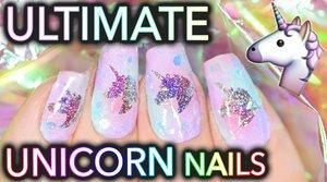 The Ultimate Unicorn Nails - YouTube