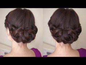 Braided Flower Hair Tutorial - YouTube