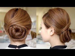 Sophisticated Twisting Bun Hair Tutorial - YouTube