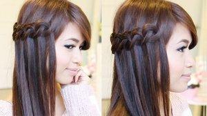 Knotted Loop Waterfall Braid Hairstyle | Hair Tutorial - Bebexo | YouTube