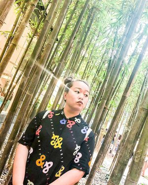 Places to take #ootd in #jewelchangiairport : Bamboo Clusters  No need to travel to Japan liao 😛  #michowfit #bamboo #asos #plussizefashion #plussize #loveyourself #clozette #fashion #glaad #asosxglaad