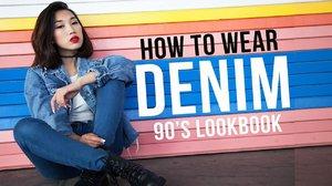 90's Fashion Denim Lookbook - YouTube