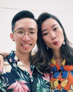 初二 • Hawaiian x #selfie #igsg #latergram #igersingapore #vscosg #vscocamsg #igers #cny2019 #floral #selca #vsco #clozette