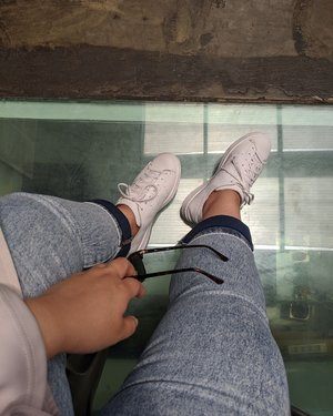 #Newkicks Adidas #StanSmith leather socks, the legendary with a twist. Made from one leather sheet for the whole shoe. #TopDownView #Acrophobia  #DinsFlair #Clozette #ClozetteID #aColorStory