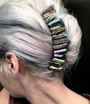 LOVE the rocks in her hair