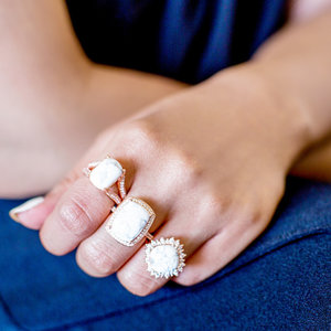 Loving these beautiful stone rings. #accessories #jewelry #baubles