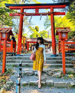 There's just something a little mystical and mysterious with the red tori gates in Japan - agree? ⛩️🇯🇵 #duckyfishykyoto #clozette
