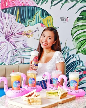 These adorable fifi floaties and floral crafted tea from HK is now in PH! I've been into fruit-teas lately and it's definitely worth the hype. Their drinks are totally refreshing and toasties are so good. BTW, you should try their avocado melt grilled toasties!  These are the must try flavors: 🌸Smashed Honey Peaches X Jasmine Tips Green 🌸Fruits Partea X Jasmine Tips Green 🌸LOL (Lime Orange Lemon) X Jasmine Tips Green 🌸Pink Rose Oolong Latte 🌸OMG (Oreo Milkcap Goodness) 🐮Cornbeef Grilled Toasties 🥑Avocado Melt Grilled Toasties  How about you? What's your favorite flavor? For me it's definitely the Pink Rose Oolong Latte  They also sell some merch such as: flamingo drink floaties, metal straws,  slippers, and bags.  Come and visit them at SM North The Block, Banawe,  Robinsons Magnolia and have a par-TEA now!
