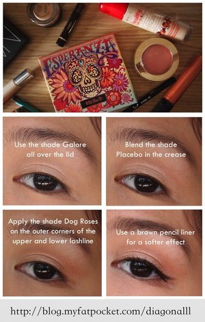I used Kat Von D's Esperanza Palette to create a light eye makeup look perfect for Spring and Summer! Head over to my blog for an enlarged version lovelies! :)  Search Pictorial for more of my quick eye makeup looks!