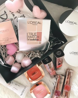 Sending some love from #LorealMakeUp - The new launches that you can already find in stores. Try spotting them in my daily selfies!