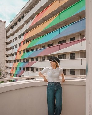Always look for the rainbow in any situation. . . . #clozette #uniqlosg #uniqlojeans #uniqlolifewear #uniqlosg