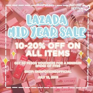 SALE ALERT! 📣  It's the best time to shop today! Get exclusive discount  on your favorite potions! 10-20% OFF! Plus discount vouchers on top of the SALE! Search for Skinpotions Official in lazada :) HOARD YOUR FAVORITE @skinpotions PRODUCTS TODAY! 😍  #clozette #skinpotions #skinpotionsph #skinpotionsgirlgang #lazada #lazadaph #sale #saleph