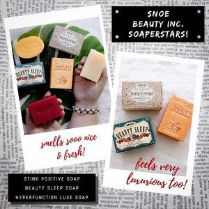 I love trying new soaps and skin products - one of my guilty pleasures when grocery shopping is staying at the soap aisle, smelling the soaps and reading the soap ingredients! Lol, weird I know, but I enjoy it - so when these @snoebeautyinc soaps arrived, you betcha I got excited! Who else gets excited to take a bath when they have a new soap?! I know I do!😂 . The Stink Positive Empowering Beauty Bar (php299) smells so fresh and clean! It has Tawas and Lemon, which makes it perfect for workout/gym days. The Beauty Sleep Night Time Anti-Aging Bar (php299) has Lavender, which is a known sleep aid and helps you to fall asleep quickly and enhancing sleep quality. The Hyperfunction Luxe Beaute Bar (php899) is infused with escargot to help repair damaged cells, acai which is loaded with antioxidants and broccoli which contains phytochemicals to reduce inflammation and detoxify your skin! This one will melt into your skin! 😍 . By the way, @snoebeautyinc is having a 50% off sale on their soaps on August 26! Visit the official Snoe Beauty Inc. store on LAZADA and stock up on your Snoe Beauty bath favorites! #soaperstar #snoebeautyinc #snoeskin #snoesoaps #fabmates