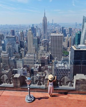 What a beautiful day to be on top! New York, you never disappoint ❤️