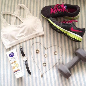 🏋🏻 Regular work outs to maintain a firm body while enjoying the benefits of body whitening fair complexion using #NIVEAsg Whitening Serum! . #NIVEAsg #NIVEA #ultimatefashionstatement #body #serum #extra #firm #firming #UV #whitening #skincare #everyday #essentials #fashion #accessories #Melissashoes #workout #exercise #NIKE #shoes #flaylay #ootd #style #stylish #beauty #clozette