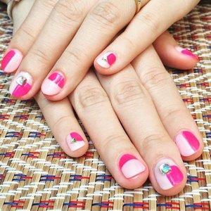 #pink #nails #gelnails #ThinkPink #BreastCancerAwareness #clozette #ClozetteSnapIt @clozetteco