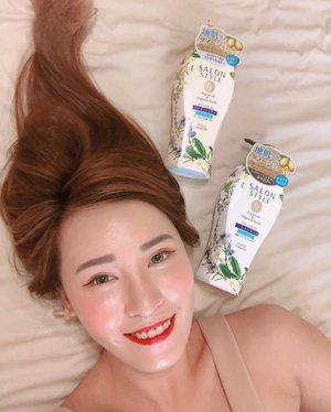 @kosecosmeportsg never lets my hair down! This time, I'm trying out the Salon Style Air in Smooth Shampoo and Conditioner that comes with Argan Oil & Organic Herbs. Love the minty, refreshing feeling on my scalp after use.  #kosecosmeportsg #kosecosmeport #salonstyle #hair #shampoo #conditioner #herworldbeautyclub #clozette #myfatpocket