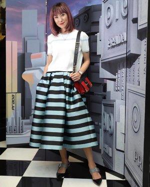 #Flashback to yesterday at #pradaprefall18 in #PavilionKL. ... #whatiwore: Top & Shoes - @miumiu Skirt - @khoonhooiofficial Bag - @prada Hair - @toniandguybangsar ... 📸 by Ken . . #ootd #flashbackfriday #kualalumpur #fashionista #fashionblogger #divainmefashion #khoonhooiofficial #miumiu #pradacahier #clozette #outfitoftheday #mixandmatch #toniandguybangsar #toniandguymalaysia #fashion