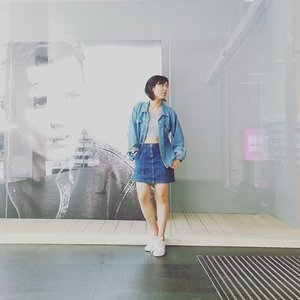 Denim n grey kind of day. #ootd #denim 📷: @evewaikuan  Blog updated! 🍁🍁ksh2772.blogspot.com🍁🍁 #clozette #butterflymsia