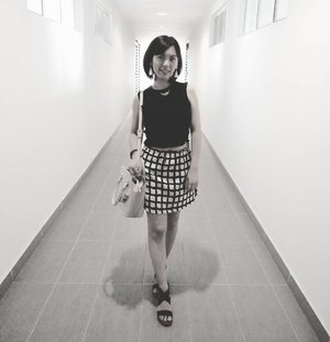 Black n white photo  to match  my black  n white  outfit  #sunday #ootd  #clozette
