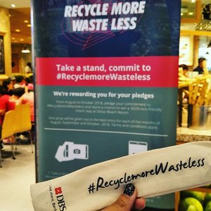 Grab your spork and #recyclemorewasteless with @dbsbank