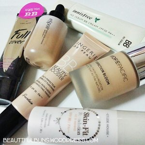 I've been happily indulging in my BB cushions till I've neglected my other bb creams and foundations. what shall I try and review next? hmm  hmmm.