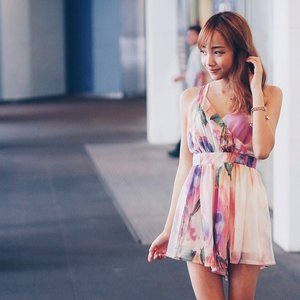 Attended @samplestore relaunched event last Saturday! Lovely kylie watercolour dress c/o  wonderstellar.com