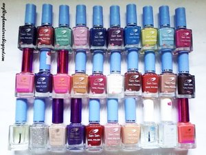 My San San Nail Polish Collection! From plain pastel to frosty shades! Yaay, can't wait to complete my San San Collection! You can visit my blogspot account for my San San Nail Colors review! :) #Collection #Nails #NailCare #SanSan #NailPolishes #ColorStash #Pastel #Frosty #Dark #Shimmers #Glitters