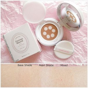 Had a few questions about this product, so #swatched and review of the @etudehousesingapore #AnyCushion Pearl Aura #bbcushion are up! This has a lightweight texture and gives a nice glowy (but not glittery or OTT) finish. Coverage is more light-medium than full, but can help to cover small imperfections. As a bonus this also has a couple of nice skincare ingredients - which isn't that common for mainstream #kbeauty #bbcushions, so yay! #Clozette #beauty #makeup