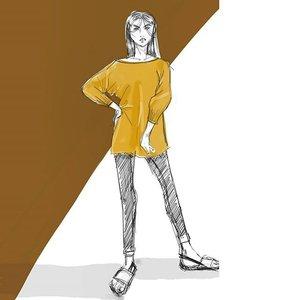 Fashion these days, are quite laid back. #clozette #fashionillustration #fashionillustrator #simplicity #minimalist #coordinate #sketchbook #fashionista #illustration #artoftheday #dailydoodle #drawing #topcreator #vogue