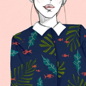 Shirt design #shirt #design #fish #fashionillustration #fashionillustrator #illustration #artoftheday #art_we_inspire #art_help #fashionootd #dailydoodle #sketchbook #lookbook #ootd #potd #clozette