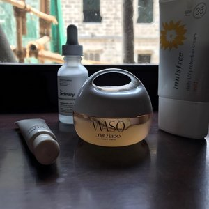 Current AM routine (minus the cleanser & toner)