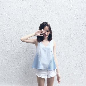 Babydoll in baby blue in c/o @mgplabel, check out their new arrivals!💙 #clozette #mgpootd