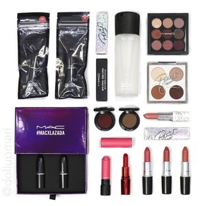 """[5th to the last flatlay] When I got interested with makeup, it was the time Urban Decay, Too Faced, and Tarte were the emerging """"high end"""" brands. I don't come from the era that was all about MAC. It's just recently that I realized why @maccosmetics has been in the biz for so long and why it's the world standard in makeup. Each item is pricey but so high performing that once you start using something from @maccosmeticsph, it becomes irreplaceable in your kit already. #maccosmetics #maccollection #maccosmeticsph #macpatrickstarrr"""