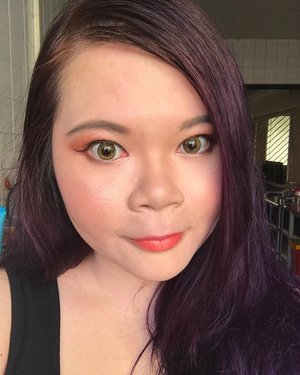 Been awhile since I bothered to put on a full face makeup. Using #katvondpastelgoth , #nakedheat and #toofacedglitterpalette on the eyes. #ysl on the lips. #narsunfiltered for cheeks and highlight. #nofilter #makeuplove #fotd #lotd #clozette #makeup #makeupoftheday #motd #makeupaddict #makeuplove #selfie #selca