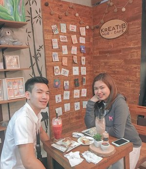 My pleasure to be your guest blogger for ribbon cutting last March 2018, @kreatibhubcafe 's grand opening. And now I am really glad that I am still part of  your anniversary celebration. Thank you so much Ma'am Rona & Krratib Hub Family! ♥️🤗 — #JMZsponsors #Sponsored #KreatibHubCafe