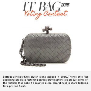 BOTTEGA VENETA | Knot Leather Clutch