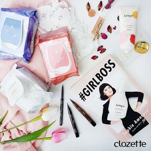 First rule of a #girlboss? Treat yo'self! We've got Jurlique's Rose Hand Cream and Daily Moisture Balancing serum for pampered skin, and Esprique's Gel Liquid Eyeliner for eyeliner on fleek. Wipe off your game face at the end of the day with @bifestasg's cleansing sheets. What are your girl boss beauty products? #Clozette #ClozetteSHOTS #jurliquesg #bifestasg #esprique #kosesg