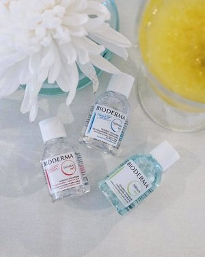 We're suckers for cute minis! The @biodermasg Sensibio, Hydrabio and Sebium H2O Micellar Water are mainstays in our vanity stash — how about yours? #Clozette #biodermasg