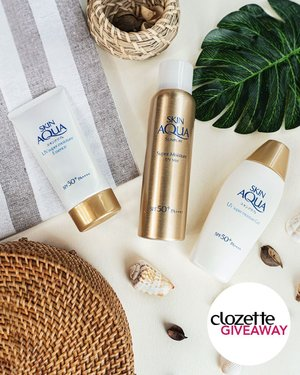 #ClozetteGiveaways: Have fun under the sun without worries with the help of the Sunplay Skin Aqua sunscreen range. Get a chance to take home a set of sunscreen products by simply doing the following:  1. FOLLOW @clozetteco, 2. LIKE this photo, 3. TAG two friends in the comments and share your favourite outdoor activity.  The giveaway is open to residents of Singapore and will run from 31 October 2019 to 15 November 2019. #Clozette